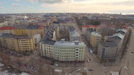 OneMinStoryn videotuotanto, yrityksen esittelyvideo Kiinteistömaailma Taka-Töölö