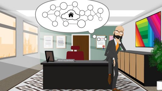 OneMinStoryn videotuotanto: Fujitsu Nordic Cloud- pilvipalveluiden tuote-esittelyvideo