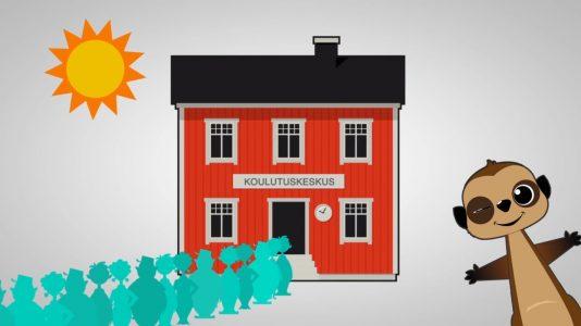 OneMinStoryn videotuotanto: Meerkado koulutusten kauppapaikka yritysesittelyvideo